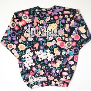LuLaRoe Graphic Floral Logo Sweater